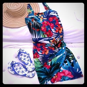 Cache Tropical Fitted Wrap Dress (6)